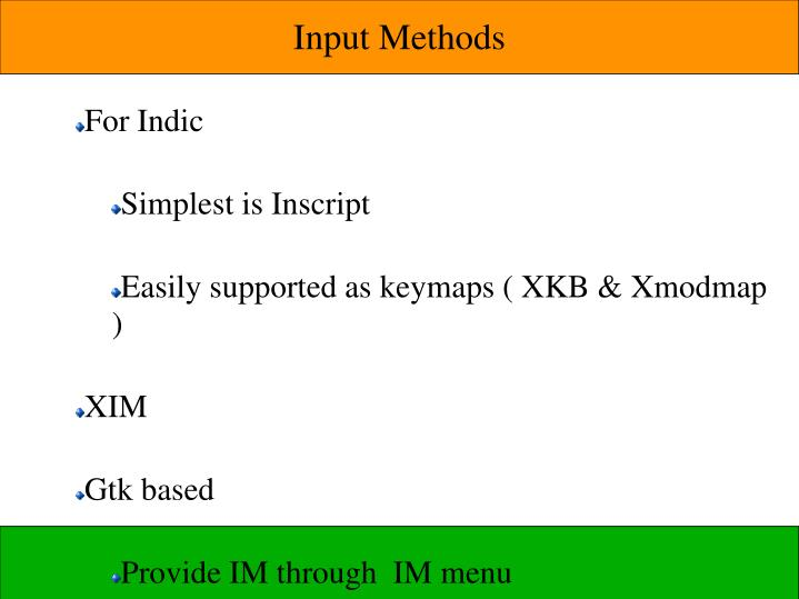 Input Methods