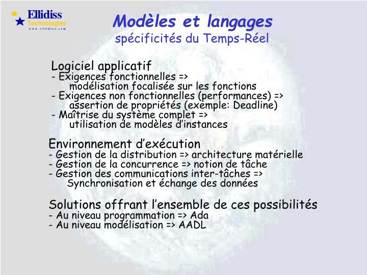 Modèles et langages
