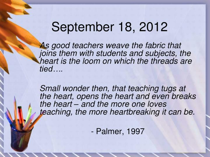 September 18, 2012