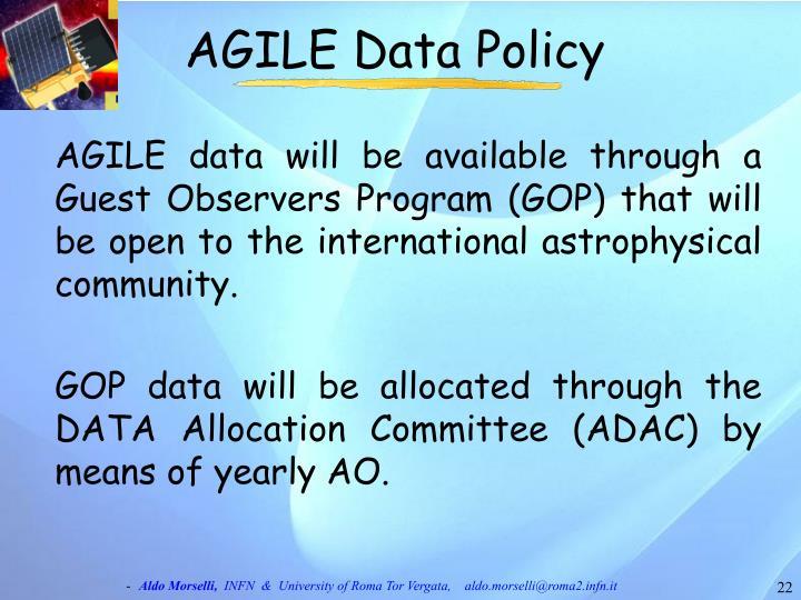 AGILE Data Policy