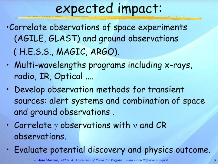 expected impact: