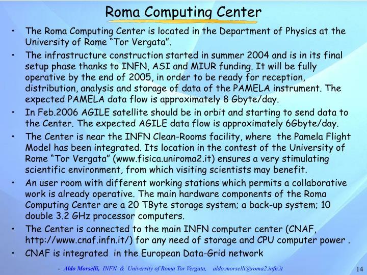 Roma Computing Center