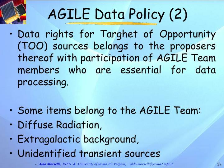 AGILE Data Policy (2)