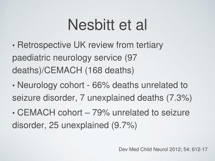 Retrospective UK review from tertiary paediatric neurology service (97 deaths)/CEMACH (168 deaths)