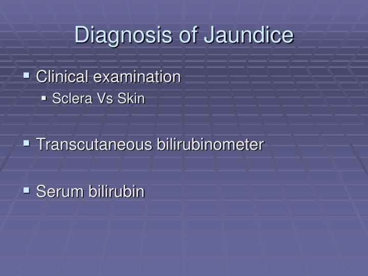 Diagnosis of Jaundice