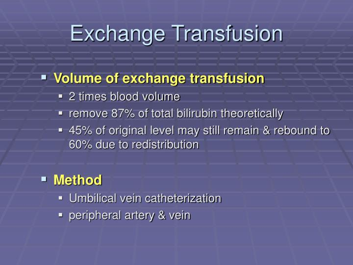 Exchange Transfusion