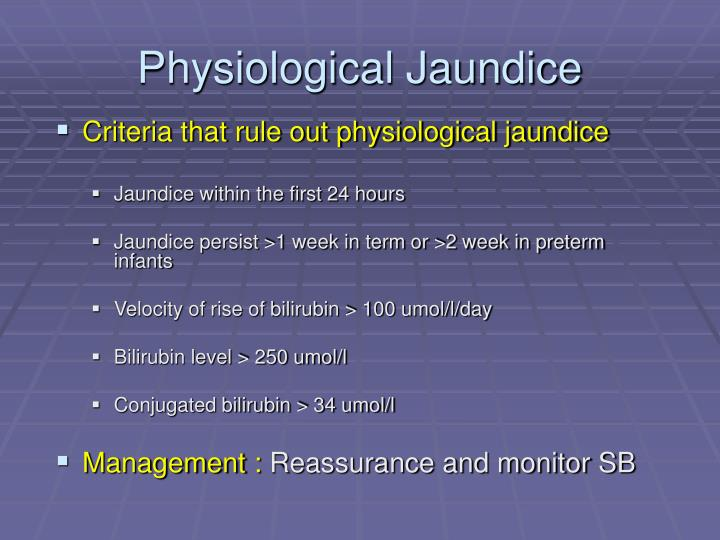 Physiological Jaundice