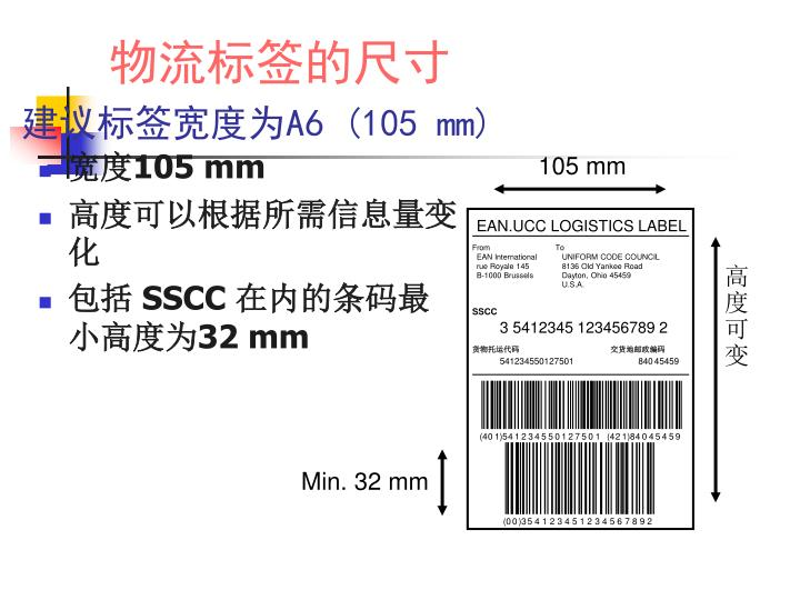 EAN.UCC LOGISTICS LABEL