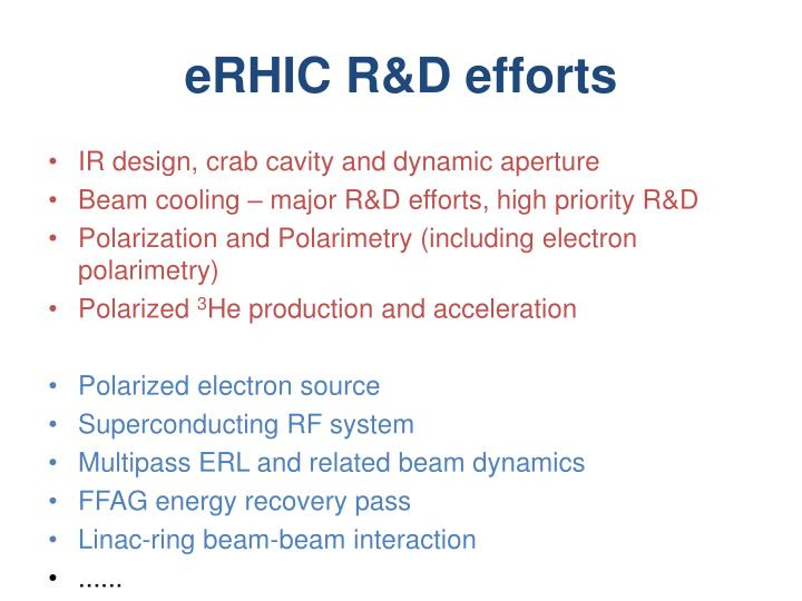eRHIC R&D efforts