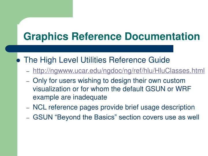Graphics Reference Documentation