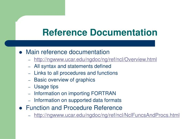Reference Documentation