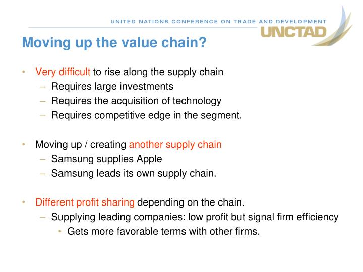Moving up the value chain?