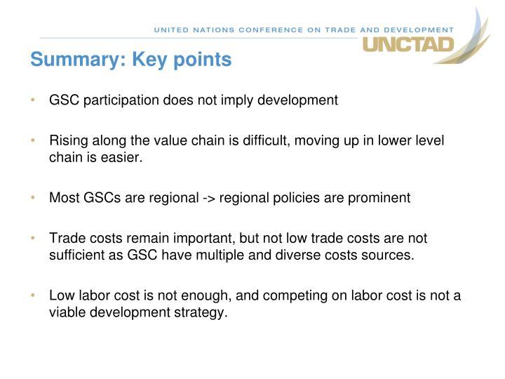 Summary: Key points