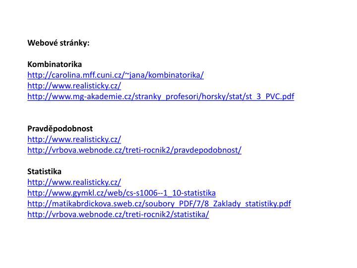 Webové stránky: