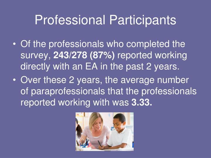 Professional Participants