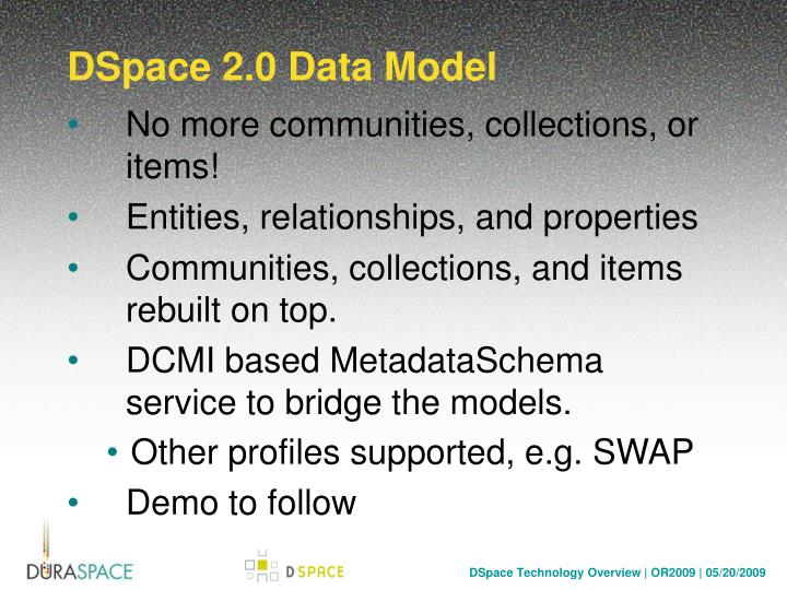 DSpace 2.0 Data Model