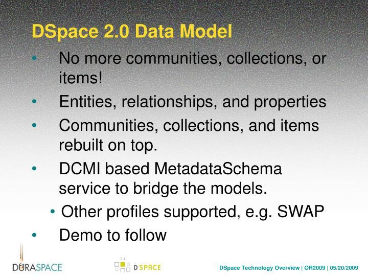 DSpace 2.0 Data Model