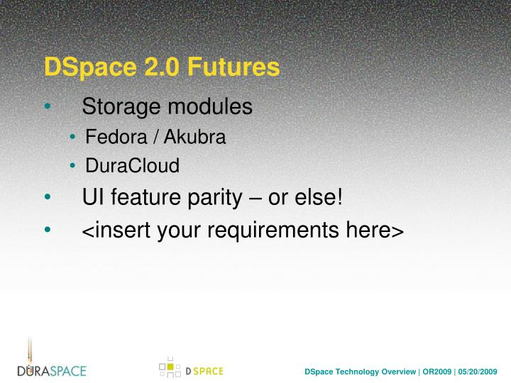 DSpace 2.0 Futures