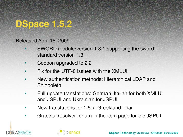 DSpace 1.5.2
