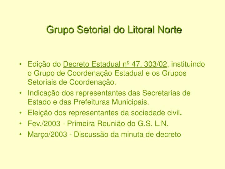 Grupo Setorial do Litoral Norte