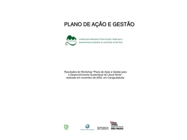 PLANO DE AÇÃO E GESTÃO