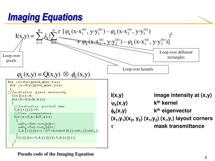 Imaging Equations