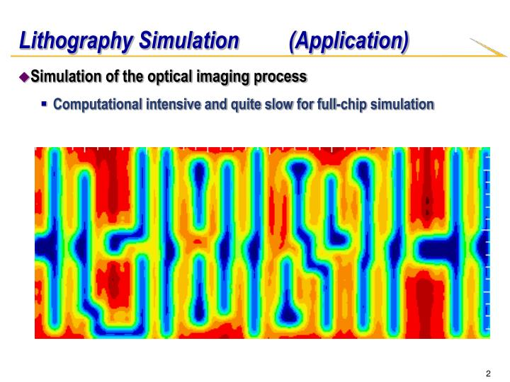Lithography simulation application