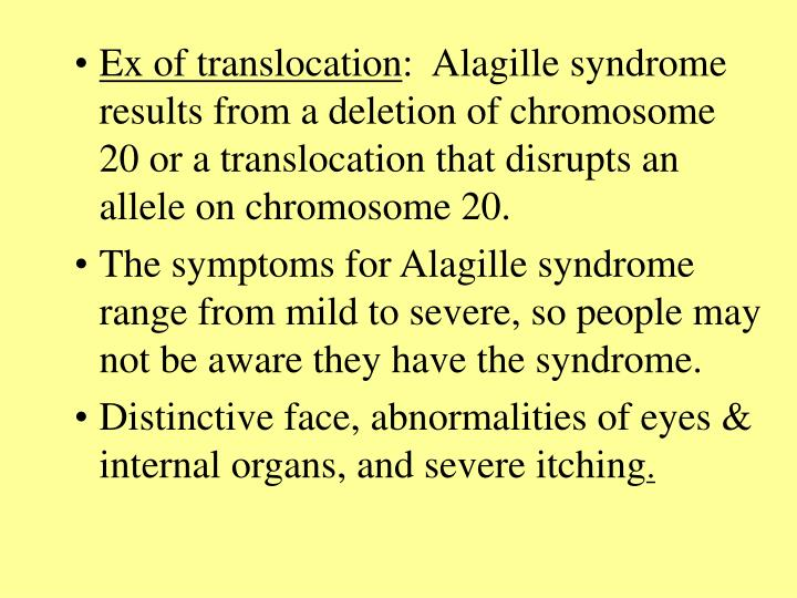 Ex of translocation