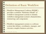 definition of basic workflow
