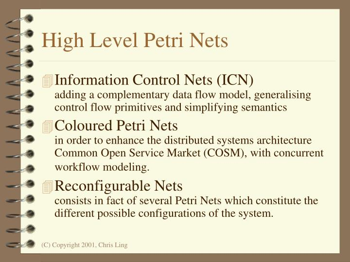 High Level Petri Nets