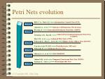 petri nets evolution