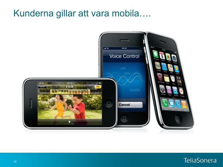 Kunderna gillar att vara mobila….