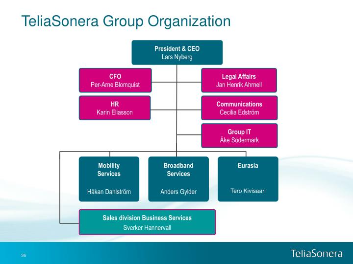 TeliaSonera Group Organization