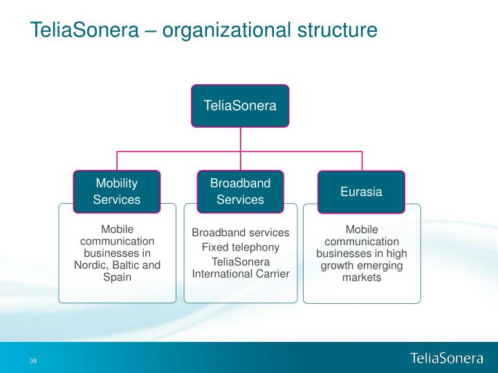 TeliaSonera – organizational structure