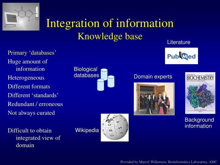 Integration of information