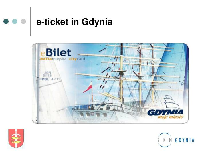 e-ticket in Gdynia