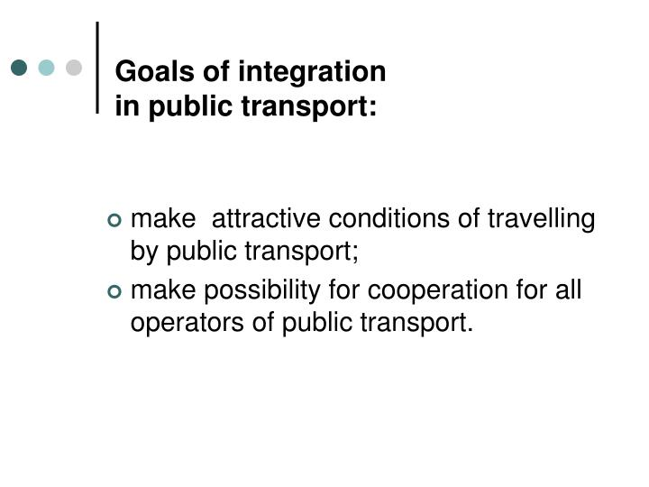 Goals of integration