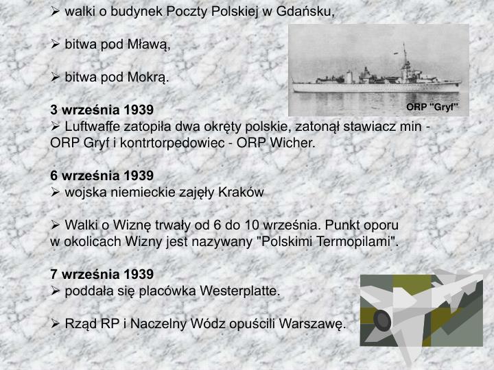 walki o budynek Poczty Polskiej w Gdańsku,
