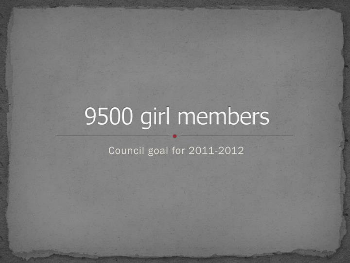 9500 girl members