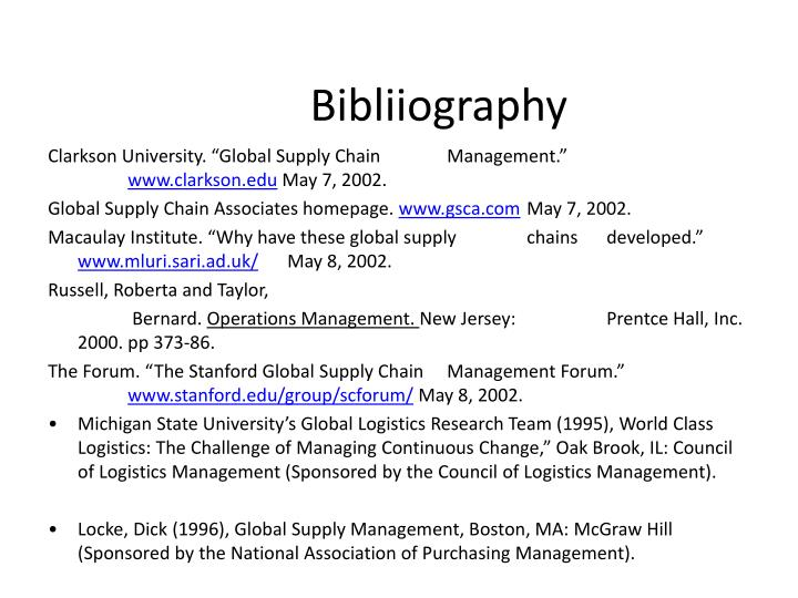 Bibliiography