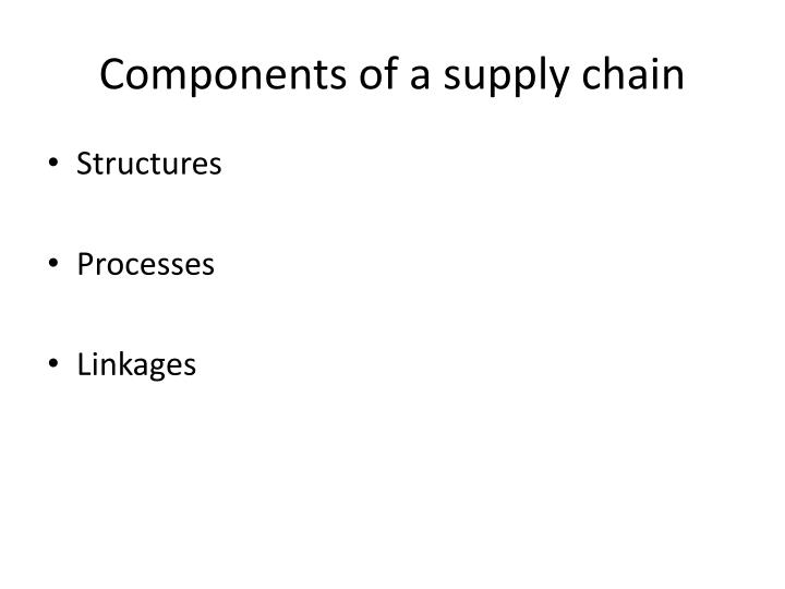 Components of a supply chain