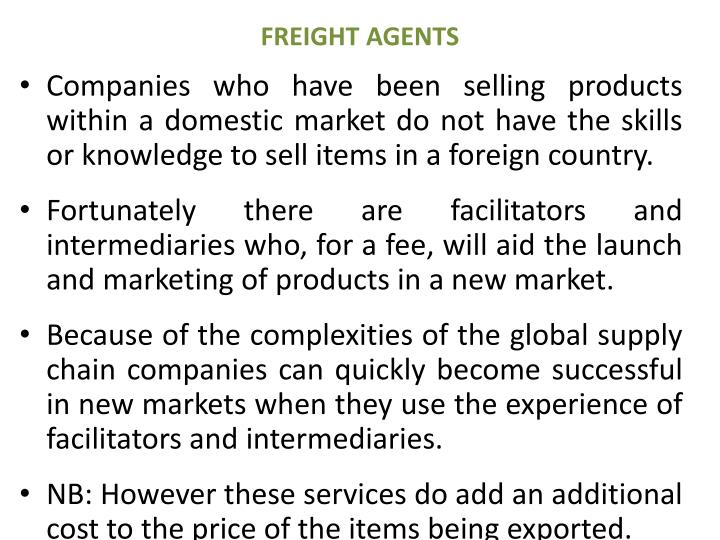 FREIGHT AGENTS