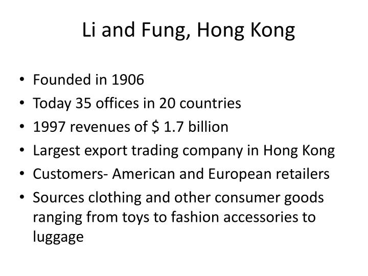 Li and Fung, Hong Kong