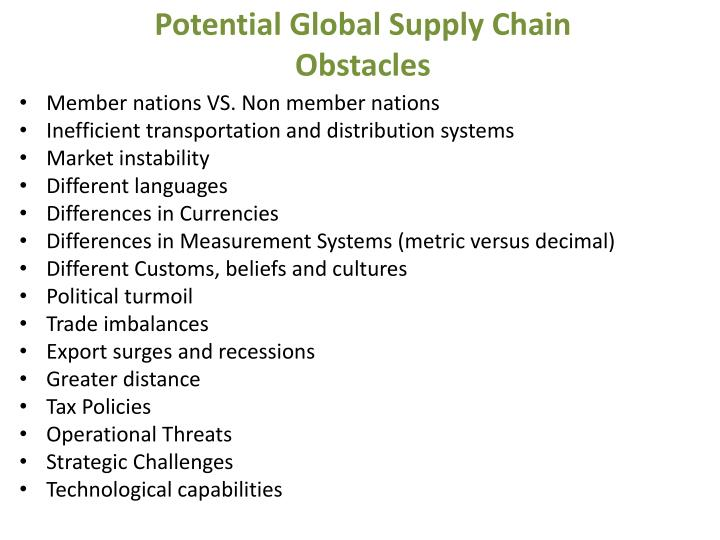 Potential Global Supply Chain
