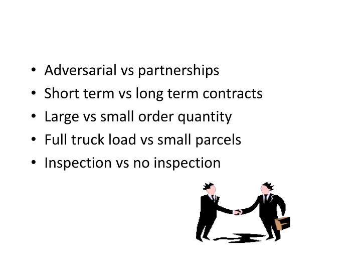 Adversarial vs partnerships