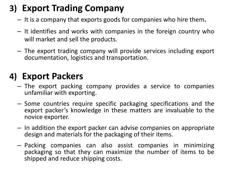 Export Trading Company