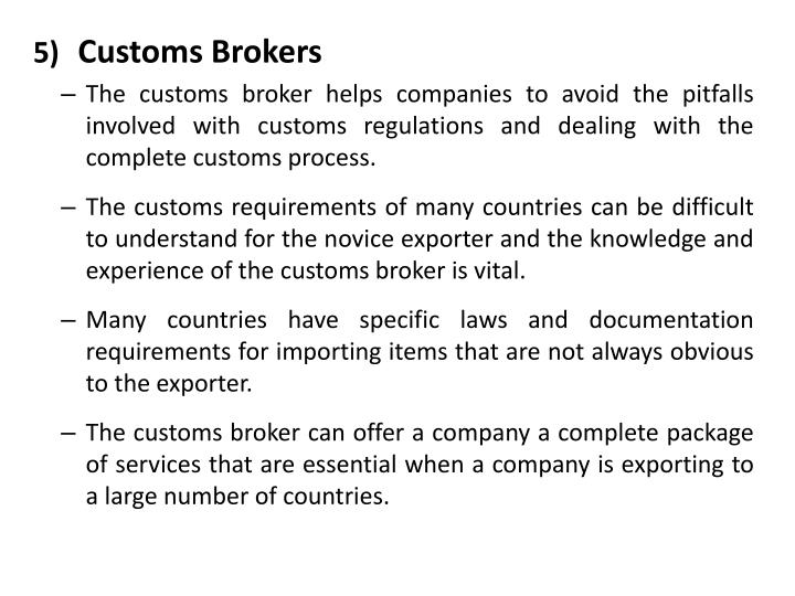 Customs Brokers