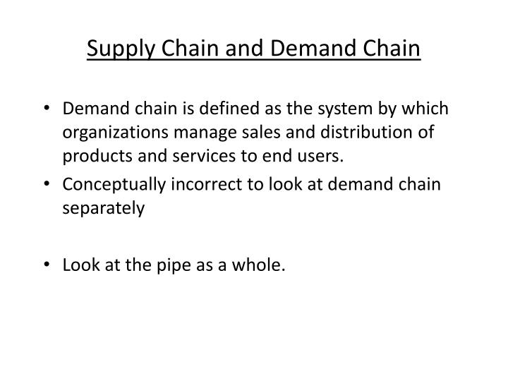 Supply Chain and Demand Chain