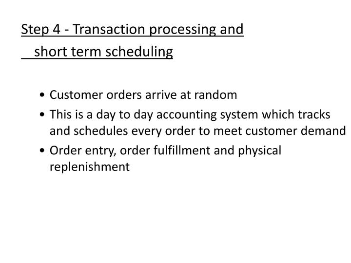 Step 4 - Transaction processing and