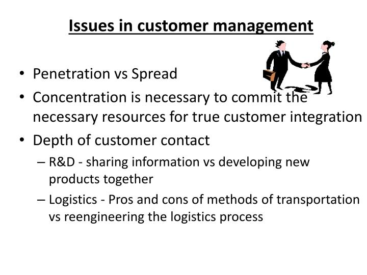 Issues in customer management